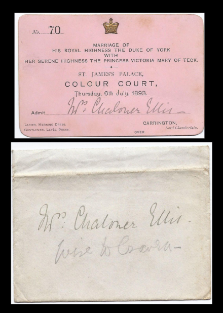 Prince George Duke of York & Princess Victoria Mary of Teck Wedding Invitation